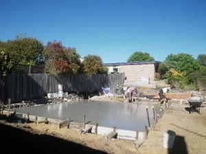 131120-1 Pouring garage slab
