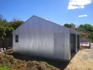 Dec 6, 2013: garage completed.