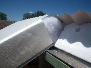 Dec 17, 2013: roof panel ridge detail.