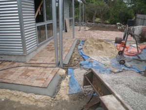 Jan 23, 2014: Finished laying the pavers and adding the concrete edging.