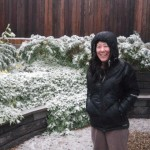 July 2015: Snow at the Greeny Flat as we prepare for a trip