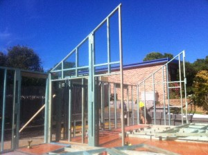 Dec 3, 2013: Standing house frames