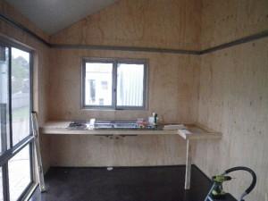 Mar 5, 2014: starting the kitchen installation