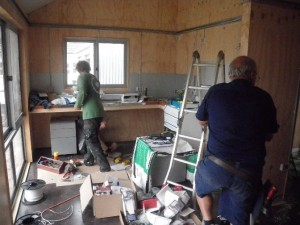 Mar 27, 2014: plumbing and electrical chaos.