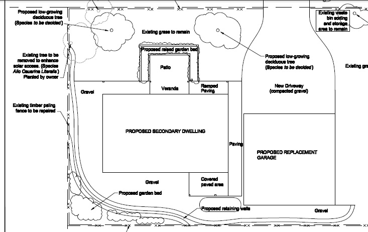 Greeny Flat landscaping plan.