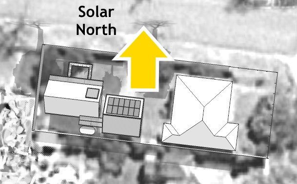 The Greeny Flat site faces Solar North.