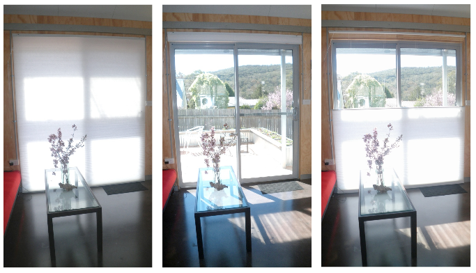Insulating cellular blinds with top-down-bottom-up feature.