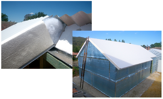 SIPS panels were used for the roof of the Greeny Flat.