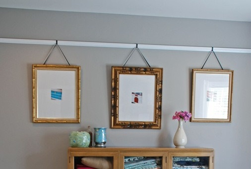 A good old-fashioned picture rail.