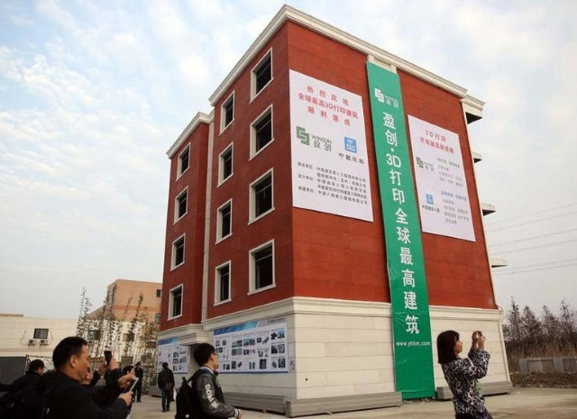 3D printed apartment building in China