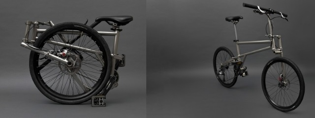 The Helix Bike - folded and unfolded