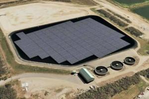Artist's impression of Australia's first floating solar farm