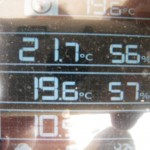 Indoor and outdoor temperature and humidity