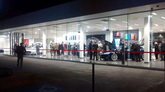 Tesla's showroom in Chatswood