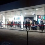 MAY 2015: An evening at the Tesla showroom in Chatswood.