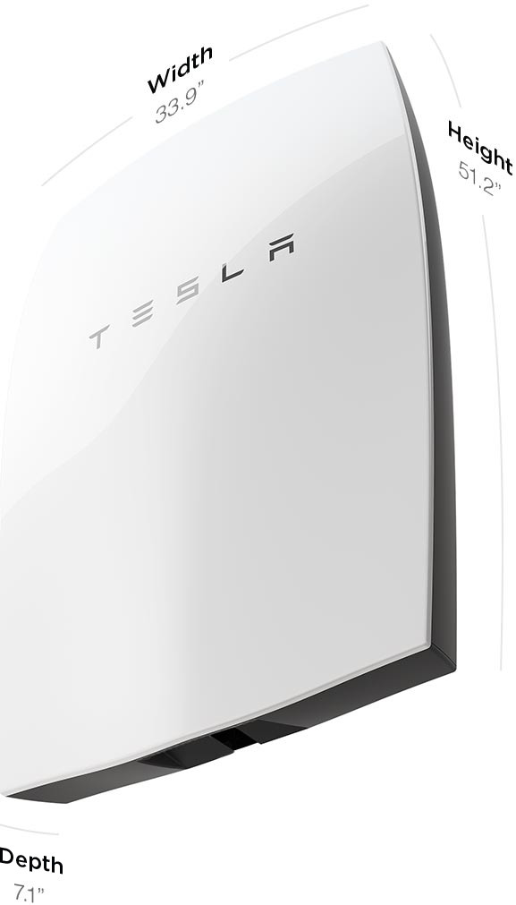 The remarkably small and very stylish Tesla 'Powerwall'