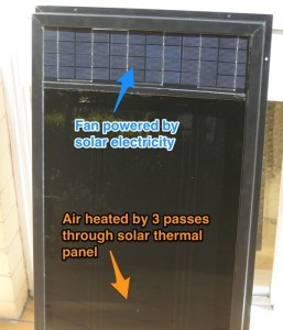 Solar powered solar air heater on ebay