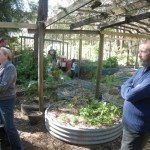 Judith and Paul in the veggie patch