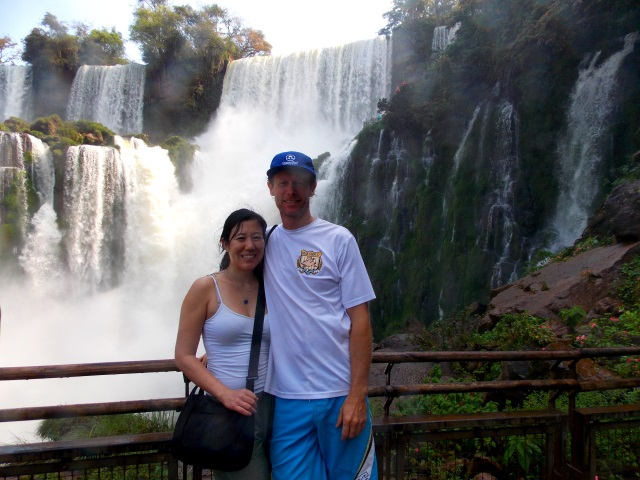 Just one of the hundreds of beautiful waterfalls at Iguazu.