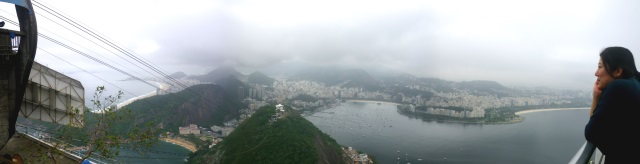 Cintia takes in the view of Rio from Pao de Acucar