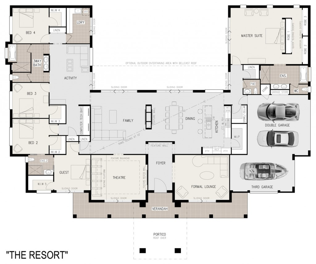 The Resort - floor plan