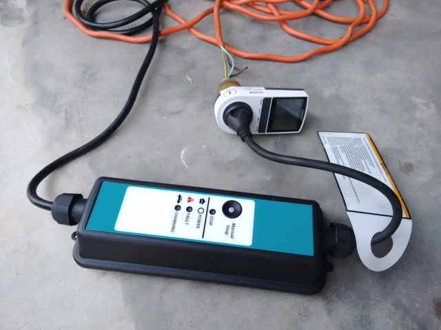 We have the charger for the PHEV connected to an energy meter so we can measure how much electricity it uses.