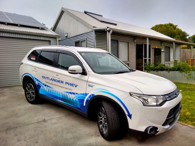 Our new Mitsubishi Outlander Plug-in Hybrid SUV.