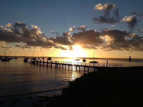 Sunrise over the jetty at Callala Bay