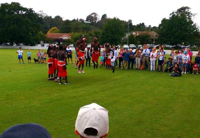 The touring Maasai Cricket Team at Bradman Oval
