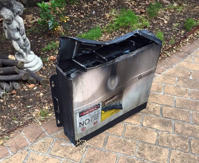 A Lithium battery that exploded recently