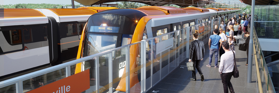 The new Sydney Metro Northwest rail link is currently under construction