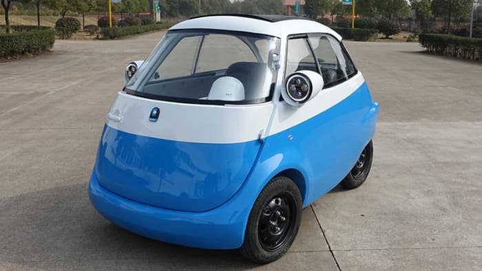 The 'Microlino' tiny EV is modelled on the 1955 BMW 'Isetta'