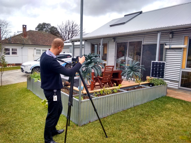 Justin Huntsdale shooting our Kale Palms for ABC News24