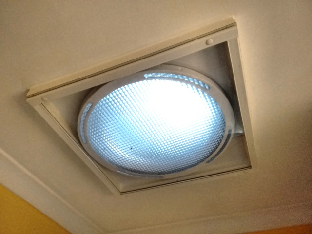 One of Cate's two skylights with a Magnetite cover over it.