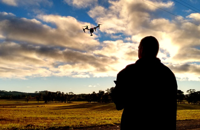 Spatial Technologies' mapping drone takes to the sky.