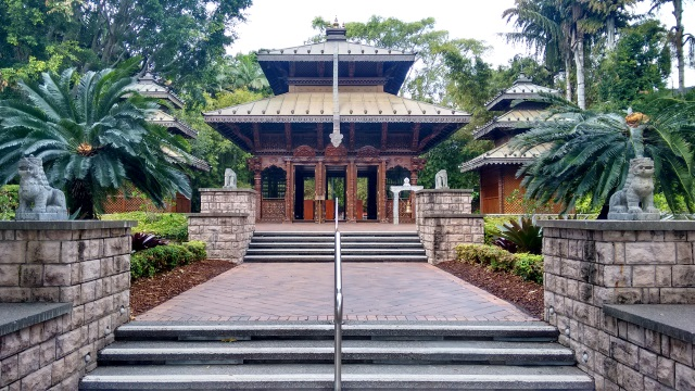 Not far from the beach is this gorgeous Nepalese Pagoda that was built for the Brisbane Expo in 1988. Every inch of it is beautifully hand-carved and it has been lovingly preserved. It makes for a peaceful retreat from the city activity.
