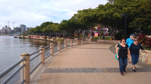 The City of Brisbane has done a fabulous job of redeveloping the riverfrontage as a delightful place for people. Walk/Cycleways follow the river bank for many kilometers on both sides of the river and appear to used constantly.