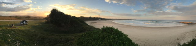 Last night's campsite near Broom's Head... another perfect deserted beach... ho hum.