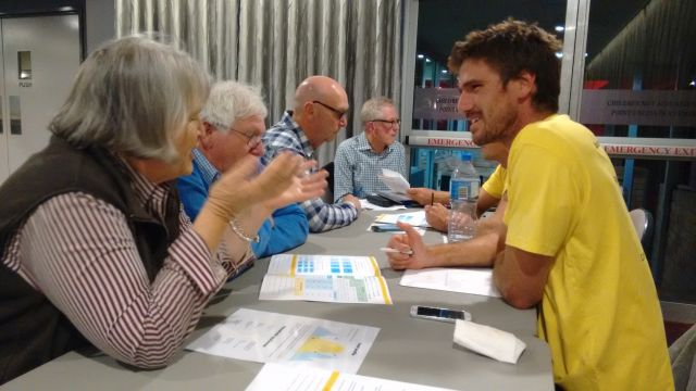 Suncrowd 'Solar Mentors' giving community members individual advice on their solar and battery requirements.