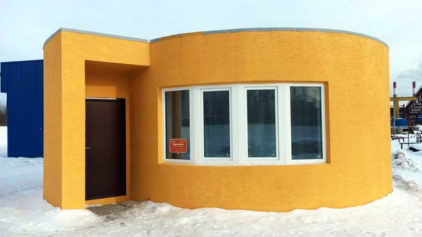The Apis-Cor 3D-printed house