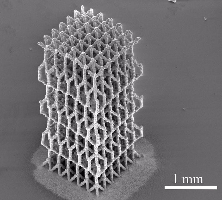 3-D printed Bio-mimetic structures offer exceptional strength-to-weight