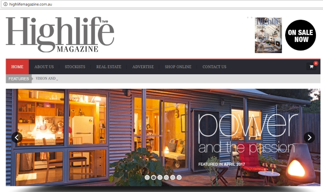 Screenshot from the Highlife website.