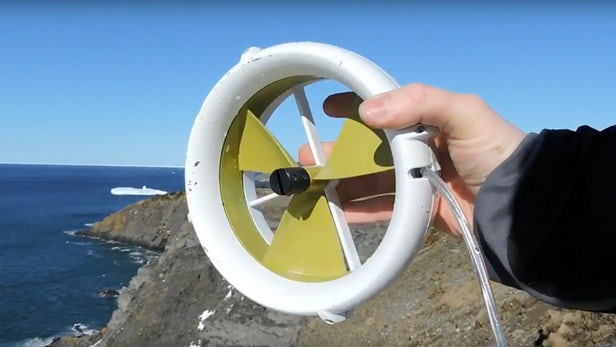 The Waterlily portable Wind and Water Turbine