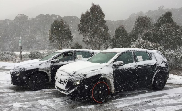 New Hydrogen Hyundai models undergoing testing in the Australian alps. (source Drive)