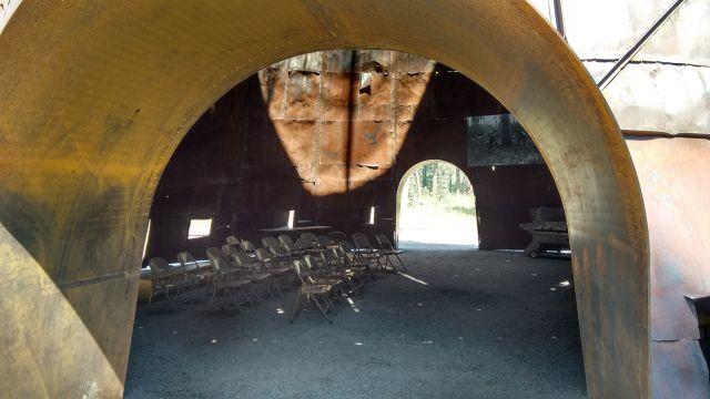 Interior of Teepee Burner Display Space