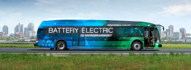 The world record breaking Proterra electric bus