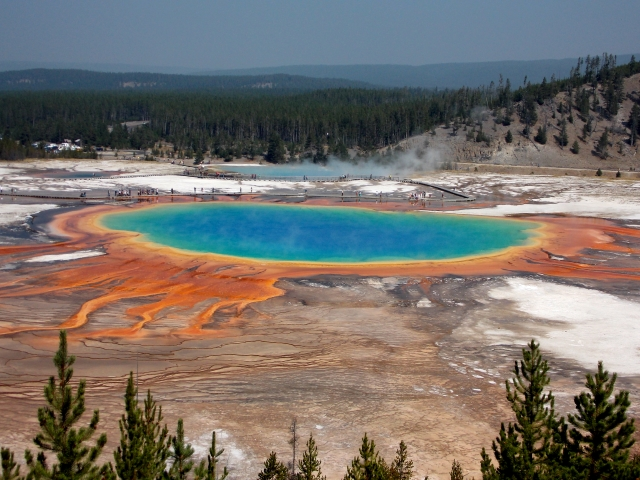 The 'Grand Prismatic' thermal spring