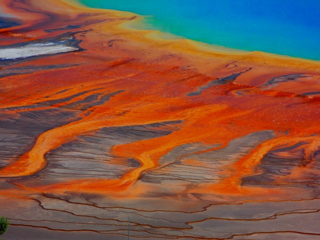 Detail of the 'Grand Prismatic' thermal spring