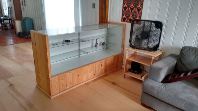 The new glass case which we just installed today.