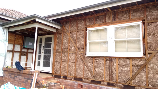 This photo shows what a good insulation job should look like (ignore the gaps beside the old window because we're about to take it out and replace it with a new, double-glazed one).